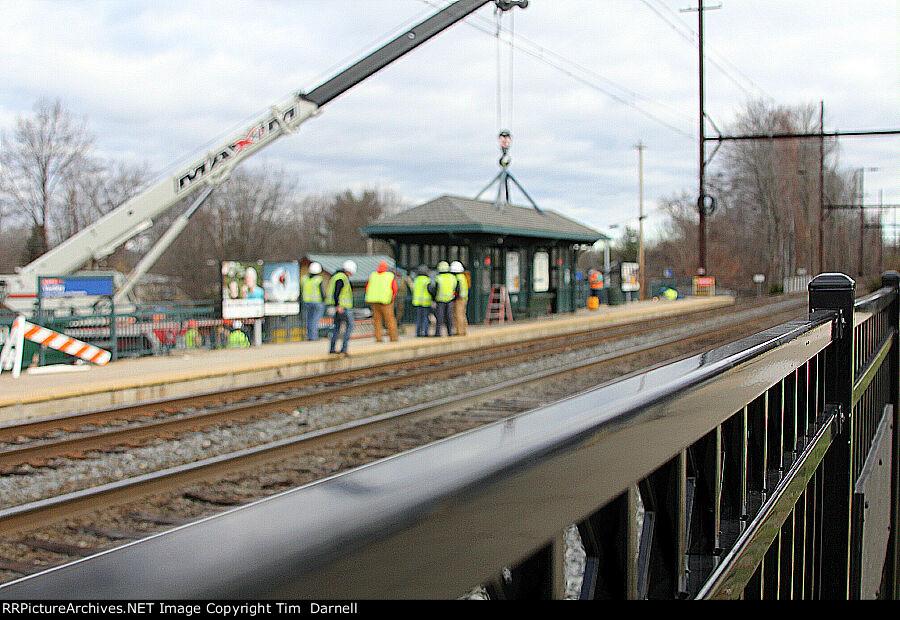 Yardley station dismantling